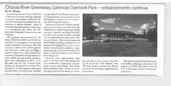 Chipola Greenway Gateway Overlook JCT Article