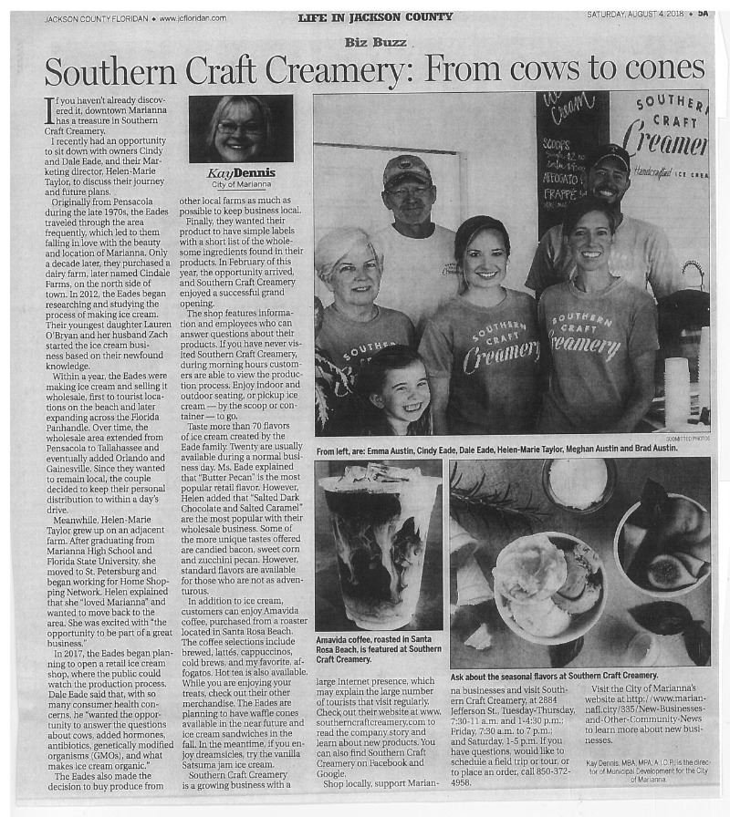 Southern Craft Creamery JCF Article001