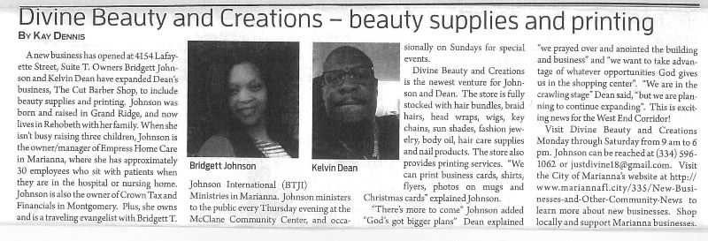 Divine Beauty JCT Article