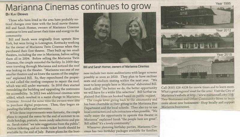 Marianna Cinemas JCT Article