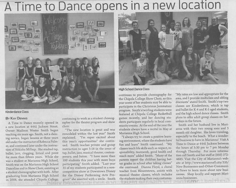 A Time To Dance JCT Article