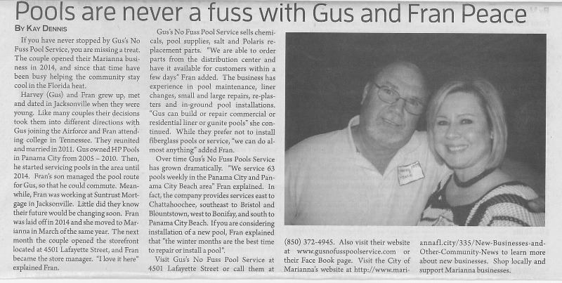 Gus Pool Service JCT Article