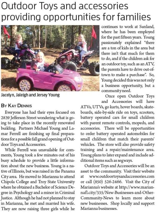 Outdoor-toys JCT Article