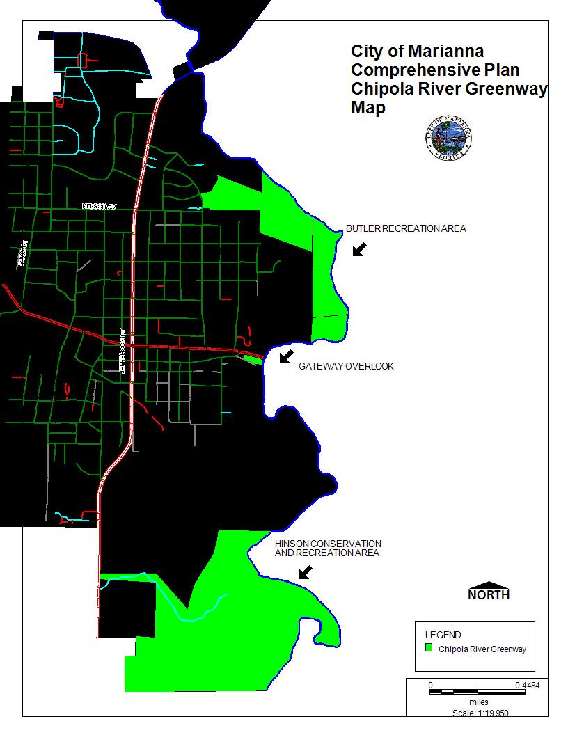 Chipola River Greenway Map